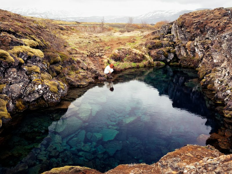 Delphine Millet Wonderland - Blue clear water lake Iceland Photography - Art conceptual photographer in Berlin