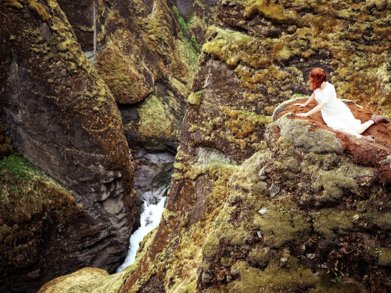 Delphine Millet Wonderland - Green canyon moss Iceland Photography - Art conceptual photographer in Berlin