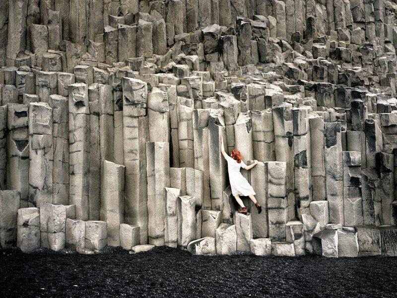 Delphine Millet Wonderland - Basaltic orgues black sand Iceland Photography - Art conceptual photographer in Berlin