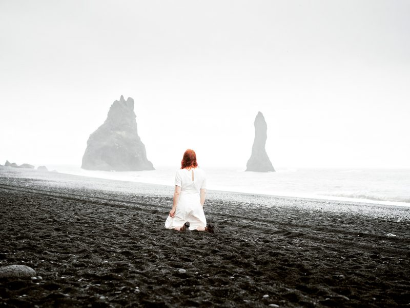 Delphine Millet Wonderland - Vik black sand Iceland Photography - Art conceptual photographer in Berlin
