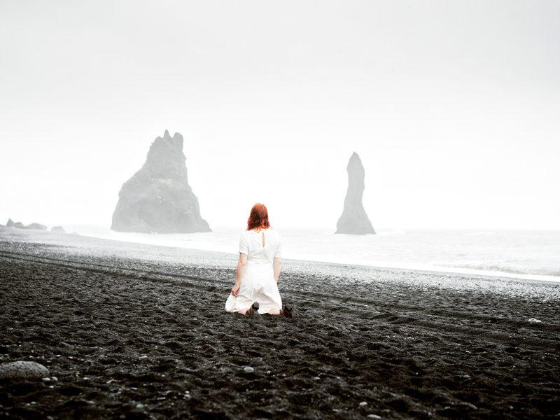 Delphine Millet Wonderland - Vik black sand Iceland Photography - Art conceptual photographer in Berlin